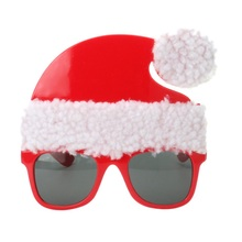 Xmas Mask Funny Props Halloween Big Nose Hair Christmas Grandfather Hat Santa Claus Modeling Funny Glasses Party Decoration(China)