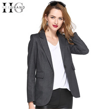 Buy HEE GRAND 2018 Fashion OL Women Blazer Lapel Outwears Pockets Spring Autumn Notched Long Sleeve Jacket Pockets Casual WWX435 for $40.79 in AliExpress store