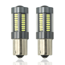 2x Car Tail Light 1156 LED Canbus BA15S/P21W BAU15S/PY21W S25 4014 66 SMD Auto Brake Reverse Lamp DRL Rear Parking Bulbs(China)