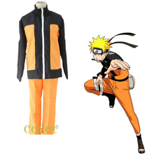 Coser Halloween Fancy Party Japanese Anime NARUTO Cosplay Clothes Role Play Uzumaki Naruto Costume Uniform Coat & Pants Suit