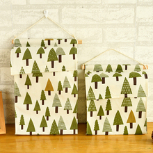 New Arrival 1pc  High Quality Cute Print Hanging Wardrobe Cloth Storage Bags Simple Tree Pattern Home & Bathroom Storage Bags
