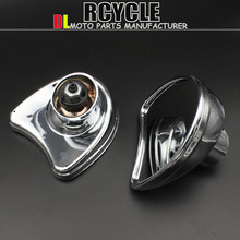 black motorcycle accessories Fairing mirror mount mirrors for Harley FLHT Touring FLHX 2014 - 2015