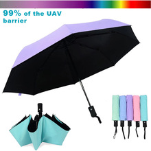 Wind Resistant Folding Automatic Umbrella Windproof Travel Rain Sun Umbrellas with Auto Open Close Button FP8