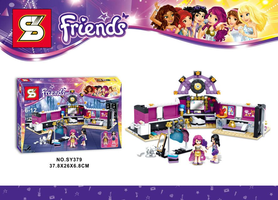 sy379 friends series Pop Star The dressing room 312pcs building blocks bricks toys children gift Compatible With Legoe 41104<br><br>Aliexpress