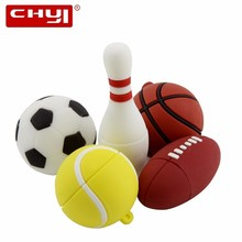 CHYI Sports Ball Series USB Flash Drive Pen Drive Football Basketball Tennis Blowing Rugby Memory Stick 4/8/16/32/64GB Pendrive