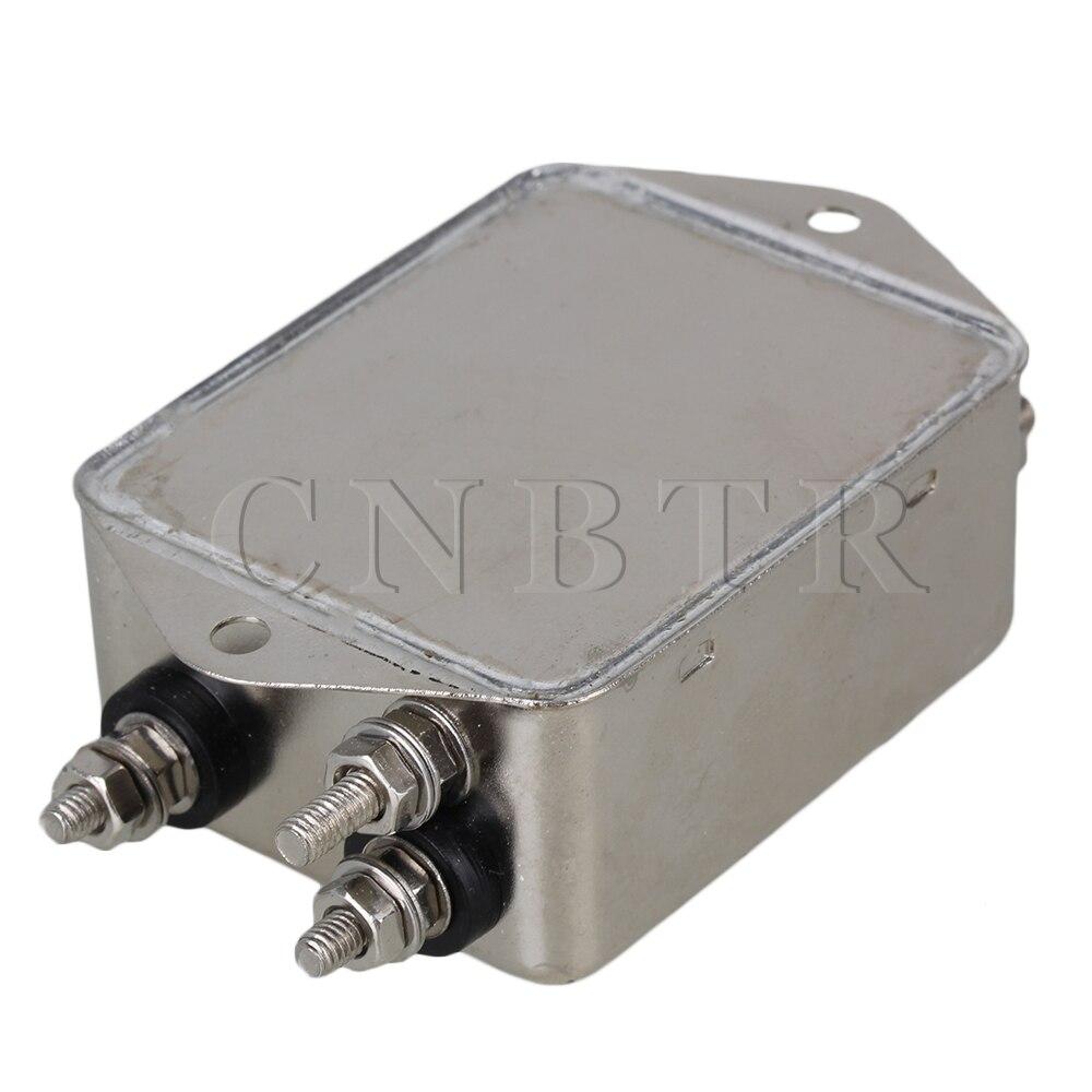 CNBTR AC115~250V 10A Metal Case Power Line EMI Filter Screw-type CW4L2-10A-S<br><br>Aliexpress