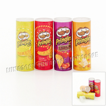 Odoria 1:12 Miniature Food Toy 4PCS Potato Chips Bottles Variety Pack Dollhouse Kitchen Accessories