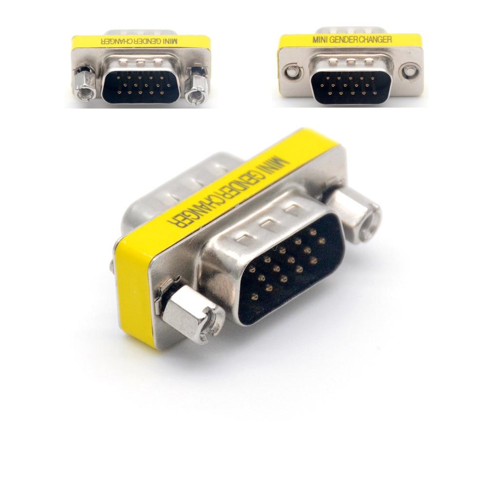 15 Pin MINI Gender Changer VGA Adapter USA F-F Pack of 2//5pcs Female To Female