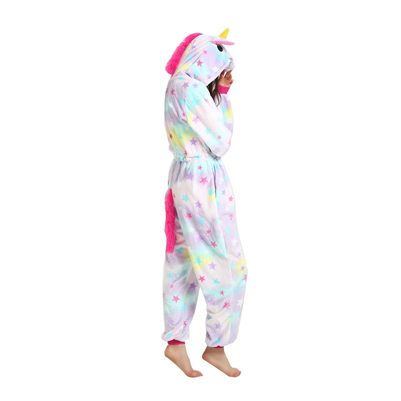 Adult-women-cartoon-animal-sleepwear-animal-unicorn-pajamas-Cute-women-hooded-long-sleeve-star-unicornio-pajamas