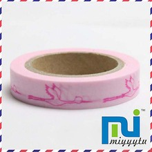 Flying crane Masking tape Neon Printing Washi tape 15mm*10m DIY Scrapbooking Stickers, 12pcs/lot(China)