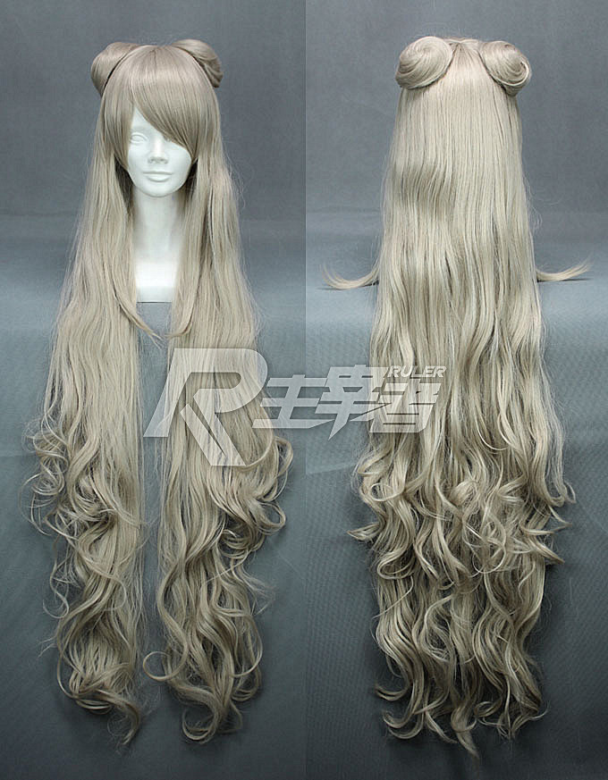 High quality Code Geass Side Story: Akito of the Ruined Land Leila Malcal Light Golden Grey Cosplay Wig<br><br>Aliexpress