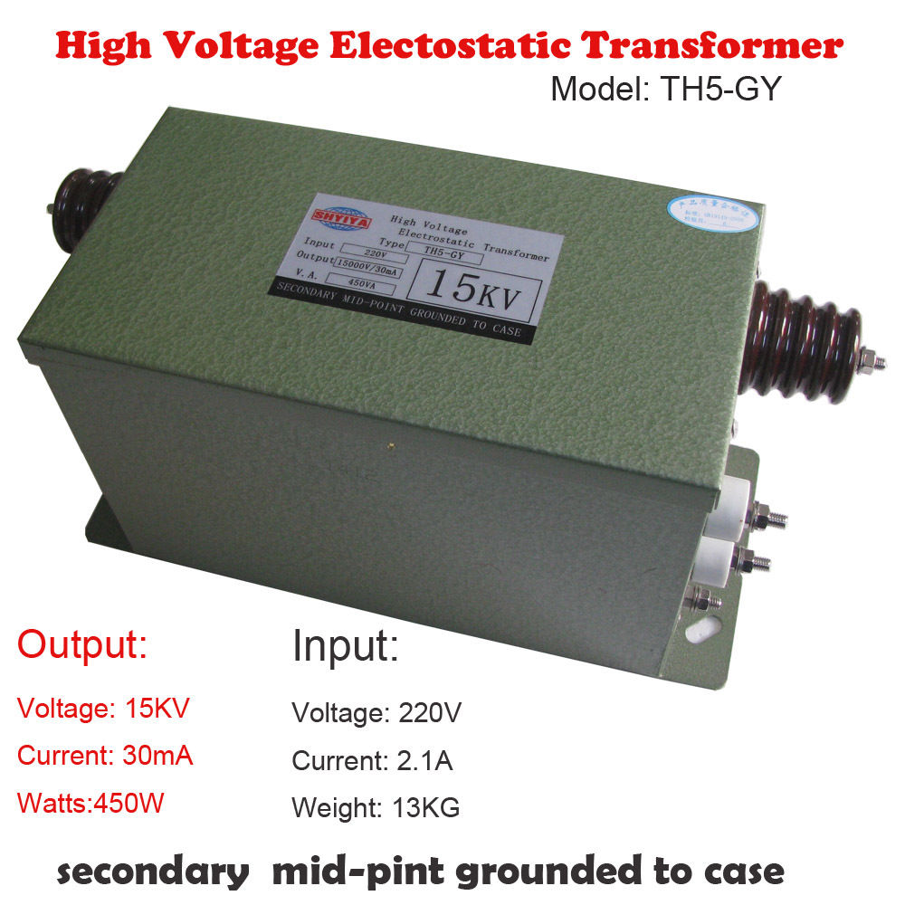 High Voltage Electostatic Transformer Device Core Tesla Test Coil 15KV 30mA 450W