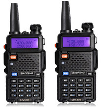 2pcs Baofeng UV-5R Amateur dualband two way radio 136-174/400-520mHZ Walkie Talkie with free earpiece for Ham,hotel,drivers(China)