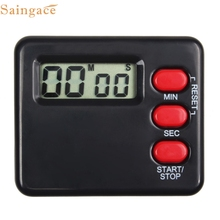 Saingace New Fashion Gifts High Quality Black White Kitchen Clock Timer Cooking 99 Minute Digital LCD Sport Countdown Calculator