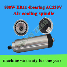 0.8KW air cooling spindle motor, 800W air cooled spindle for CNC engraving machine 65MM ER11
