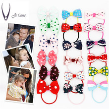 Lovely Kids Korean Hair accessories  Colorful Elastic Hair Band Butterfly Rubber Band Bow  headdress  Gum For Hair Tie