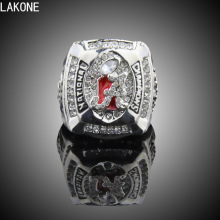 LAKONE Championship ring,2011 Alabama Crimson Tide Kejuaraan Replica Championship Ring, sports fans rings, men gift ring.