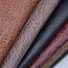 1 Meter Faux Crocodile Leather Fabric For Backpack Belt Golf Handbag Sofa Artificial Leather Imitation Pu Material Black Telas(China)