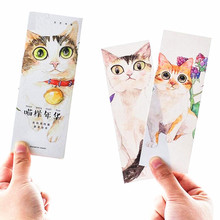 30pcs/pack/lot Japan cute Cat collection Literary Bookmark set Kawaii Meow series DIY gift card kids' prize