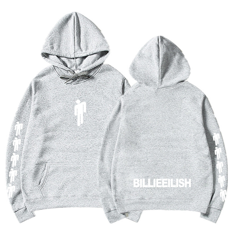 New Hot Billie Eilish Hoodie Men Black Cotton Hoodie Couple Billie Eilish Sweatshirt Simple Keep Warm Women/men Hoodie Clothes 7