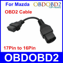 High Quality For Mazda 17PIN OBD2 Cable Diagnostic Adapter Connector For Mazda 17 Pin To 16 Pin Free Shipping