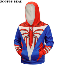 3d Hoodies Spiderman Sweatshirts Men Hooded Pullover Fashion Male Tracksuits Brand Hoodie 6XL Quality Superhero Jackets New Coat(China)