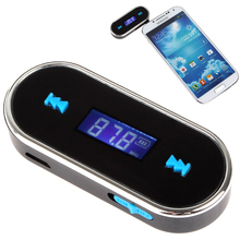 SIMR Portable 3.5mm Car Wireless FM Transmitter for iPod / iPad / iPhone / Mobile Phone / MP3 Player