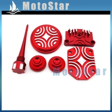 Red Engine Dress Up Kit Valve Cap Cover For 50cc 70cc 90cc 110cc 125cc Chinese Pit Dirt Bike Motorcycle(China)