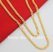 NE1525 Big Fashion Men's 4mm Chain Necklace Jewelry 24k Gold Vacuum Plating Lead Free High Quality Special Design  Products