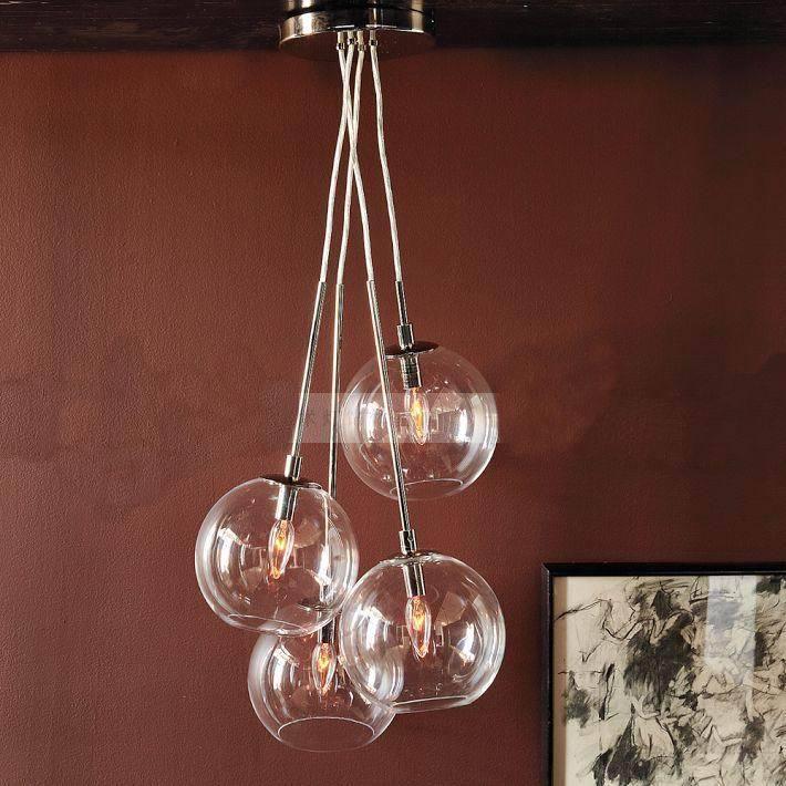 4pcs/lot  Kitchenroom Bar Decoration metal Glass Globe Lights Electroplating Abajur lustre  lights lustres e pendentes<br><br>Aliexpress