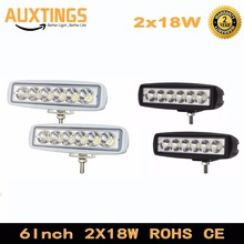 "2pcs 6"" inch 18w led work light 12v flood spot beam LED light bar car led driving light for 4x4 offroad SUV Truck Tractor"