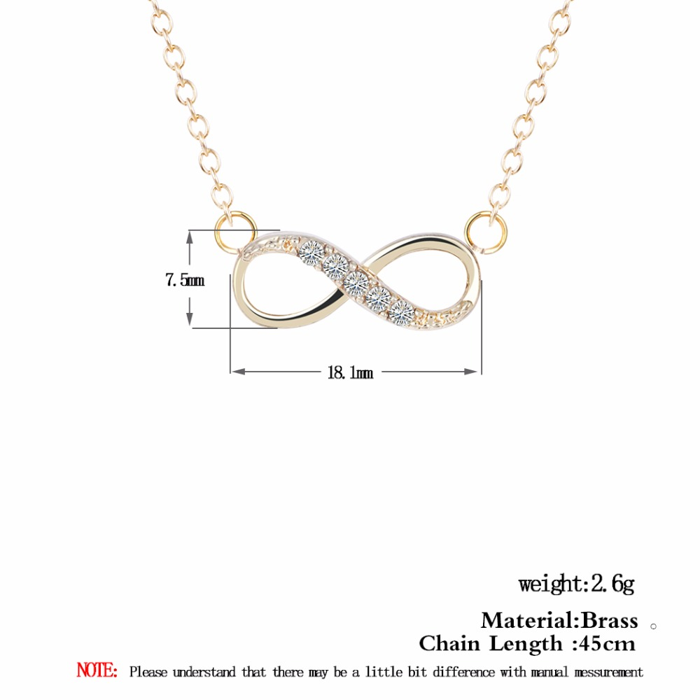 Tiny Infinity Pendant Necklace*