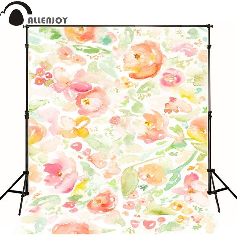 Allenjoy Photographic background Pink flower plant leaves newborn vinyl backdrops  lovely princess camera fotografica wall floor<br><br>Aliexpress