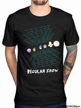 Jzecco Men'S Funny The Regular Show Virtual Reality T Shirt Mordecai Cartoon Network Rigby Design T Shirt Cool Tops
