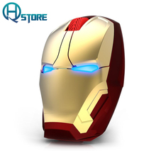 Newest Iron Man Mouse Wireless Mouse Wireless Gaming Mouse Mute Button800/1200/1600 / 2400DPI Wireless Gaming Mouse