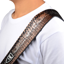 Alligator Grain PU Leather Guitar Strap for Electric Bass Guitar 130~151 cm