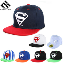 Cool! New Brand Baby Snapback Hat Boys Cap For Children Hat Kid Hat Snapback Cap Kid Super Man Hip Hop Cap Unisex Caquette