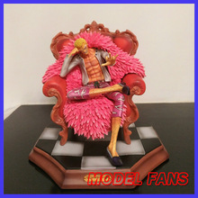 MODEL FANS instock One Piece 25cm cheap version Donquixote Doflamingo Sitting position gk resin toy Figure for Collection