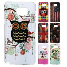 Premium High quality TPU GEL various cute owl pattern for Samsung Galaxy Note 5 Protector cell phone case shell back cover(China)