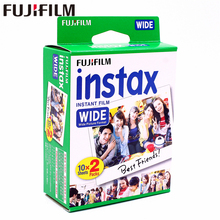 Genuine Fujifilm Instax Wide Film White 20 Sheets for Fuji Instant Photo paper Camera 300/200/210/100/500AF(China)