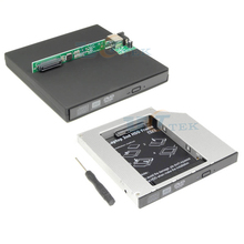 Universal 2nd Hard Drive HDD Caddy Adapter 12.7mm PATA IDE to SATA + External USB to IDE CD DVD Optical Drive Case Enclosure
