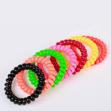 10Pcs Hair Tie Hairband Accessories Hair Rubber Bands Traceless Telephone Wire Line Gum For Hair Rope Headband Scrunchy(China)