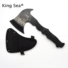 HOT SALE outdoor camping survival fire axe owl print mountain tactical tomahawk axe field tools hatchet(China)