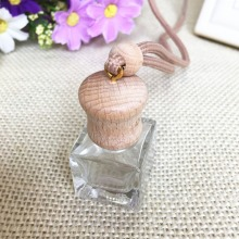 Mini Portable Refillable Perfume Bottle Scent Bottle Empty Glass Essential Oil Carry Bottle Car Pendant Gift