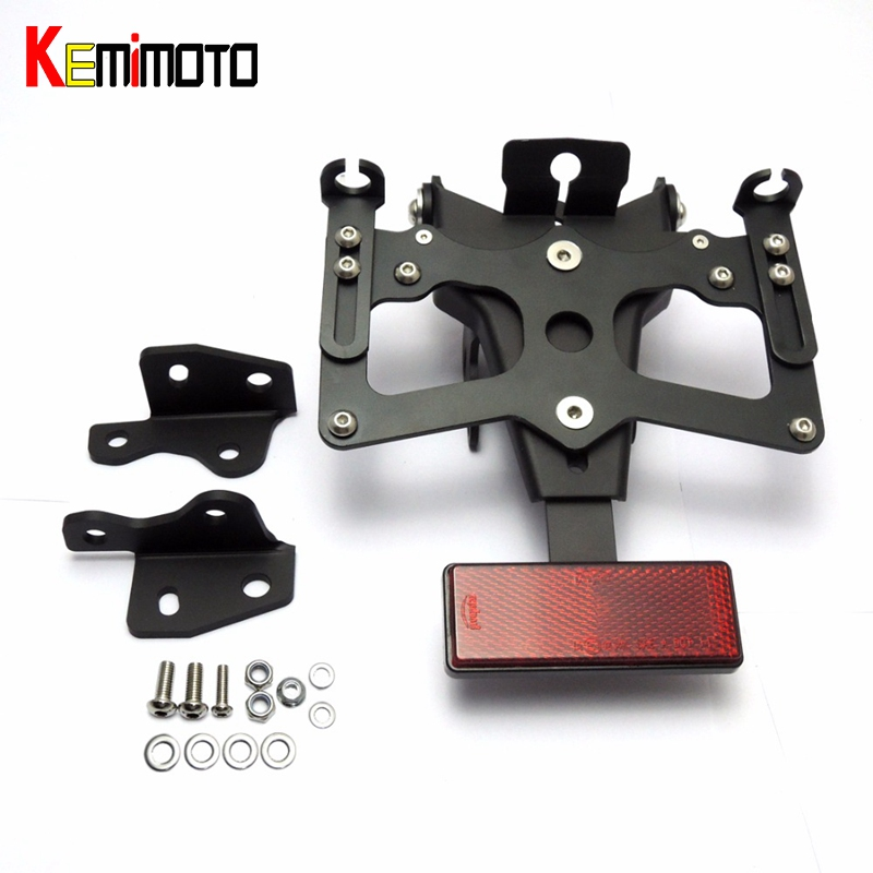 KEMiMOTO MT09 FZ09 Rear Tail Tidy Fender Eliminator Kit License Plate Holder For Yamaha MT-09 FZ-09 2014-2016 MT 09 FZ 09 <br>