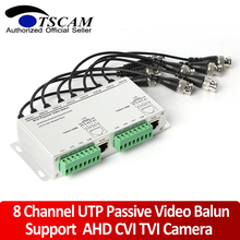 CCTV 8 Channel UTP Video Balun BNC to UTP RJ45 Camera Passive 8CH Video Balun Transmitter Support 720p/1080p AHD Camera 250m(China)