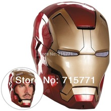 High quality Iron Man Helmet The Avengers Halloween mask ironman Led adult party COSplay masquerade masks Carnaval Costume(China)