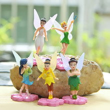 5pcs/set Tinker Bell Figures Tinkerbell Fairy Adorable PVC Action Figure Toys Collection Model Toy for Decor Kids Toys gift(China)
