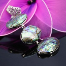 L003 New marine natural 3 rows color shell abalone shell pendant,Necklace for female fashion wholesale DIY