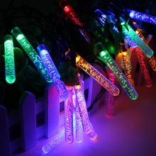 Solar Power 20LED Meteor Shower Rain Tube LED Christmas Light Wedding Party Garden Xmas String Light Outdoor Holiday Lighting P2
